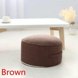 Round Tatami Cushion Meditation Yoga Chair Solid Color High Strength Sponge Seat