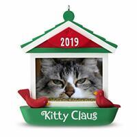 Hallmark Keepsake Christmas Ornament 2019 Year Dated Kitty Claus Cat in Bird ...