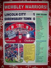 Lincoln City 1 Shrewsbury Town 0 - 2018 EFL Trophy final - souvenir print