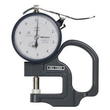 "Mitutoyo 7326S .0001"" X .050"" Dial Thickness Gage, .4"" Dia. Flat Anvil"