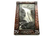 More details for jugendstil arts crafts picture frame hammered metal liberty manner circa 1890