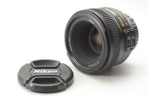 Nikon Nikkor AF-S 50mm F/1.8 G Prime Lens - With Front and Rear Lens Caps