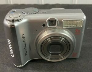 Canon PowerShot A560 7.1MP Digital Camera Tested Working Case Memory Card