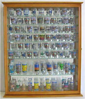 110 Shot Glass Display Case Wall Cabinet Rack Shadow Box. SC09-OA