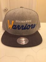 Golden State Warriors Mitchell & Ness Adjustable Hat Grey Color