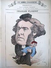 CHARLES FLOQUET POLITIQUE AVOCAT CARICATURE GILL LES HOMMES D'AUJOURD'HUI 1878