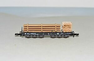 Z Scale Marklin Flat Car out of set 82354 with Custom Lumber Load (B)