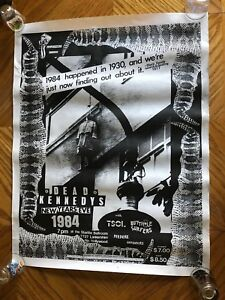 DEAD KENNEDYS Starlite Ballroom 1984 New Years Eve CONCERT POSTER PUNK TSOL A