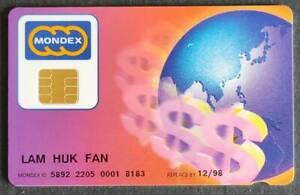 Hong Kong Mondex HSBC Bank MasterCard Credit Card