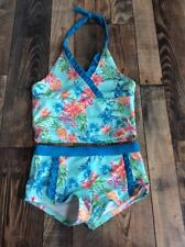 Gymboree 2 pc Tropical Floral Pineapple Halter Tankini Swimsuit NWT Size M 7 8