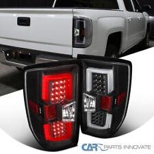 For 14-17 Chevy Silverado GMC Sierra Pickup All Black Tail Brake Lights+LED Bar