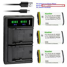 Kastar Battery LTD2 Charger for Kodak KLIC-8000 & Kodak Z1485 IS Kodak Z612 IS