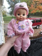 "Vintage 1971 Horsman rubber baby doll 16"" in pink sleeper"
