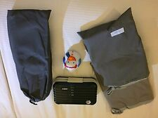 lufthansa  - firstclass set: rimowa kit, van laack schlafanzug + winter ente
