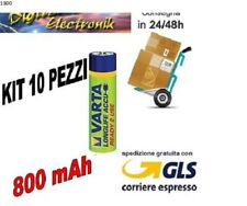 10 Batterie Pile Mini Stilo AAA Ricaricabili Varta 800 mAh MIGNON 1,2 V Stock