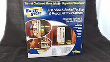 1x JML Swivel Store Spice Rack Kitchen Organiser As Seen On TV No Installation