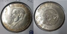 1959 Mexico Large Silver 5 peso Carranza-Eagle/Snake-Nice toning