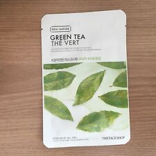 1SHEET THE FACE SHOP REAL NATURE GREEN TEA HYDRATING FACE MASK PACK