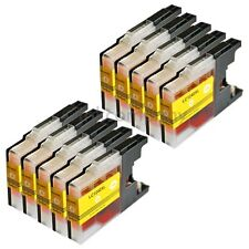 10 Brother Patronen LC1240 XL yellow für MFC-J825DW MFC-J835DW MFC-J6710DW