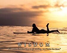 Surfing Motivational Poster Art Print Surfboard Women's Wet Suit Shorts MVP584