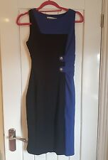 karen millen dress size 10 black and blue