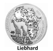 50 FRW Ruanda Silber / Silver African Ounce Giraffe 2018 1 OZ