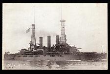 c1908 Navy USS Virginia military ship Ed Mitchell postcard