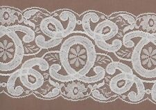 White Rigid Lace Trimming 5mts 11.5cm Wide