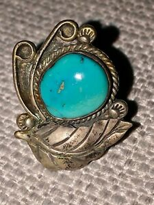 Vintage Handmade Sterling Silver with Turquoise, Ring