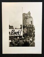 Otto Umbehr, Wir fordern Brot, Hannover 1947, Photographie aus dem Nachlass