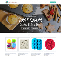 Baking Shop Website For Sale - Earn £380.00 A SALE. Free Domain| Web Hosting