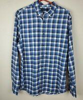 BANANA REPUBLIC Men's Luxe FLANNEL Button Down Shirt size L SLIM FLEX FIT