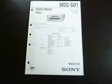 Original Service Manual Schaltplan  Sony MDS-SD1