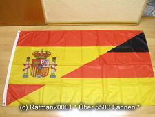 Fahnen Flagge Deutsch Spanien Wappen Freundschaft - Digitaldruck - 90 x 150 cm