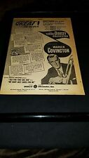 Tommy Dorsey Orchestra Warren Covington Rare 1958 Promo Poster Ad Framed!