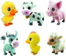 Velvety (flocked) toy - PETZOO - ON THE FARM - Complete set + 6 Cards + BPZ