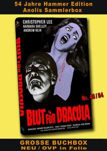BLUT FÜR DRACULA Buchbox 2 BLU-RAY ANOLIS Hammer Edition Christopher Lee HARTBOX