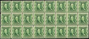 300, Mint F-VF NH 1¢ Block of 24 Stamps - PO Fresh! Cat $660.00 - Stuart Katz