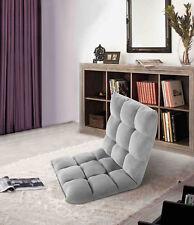Velago Ajustable Floor Lounging Gaming Chair; Grey, Blue