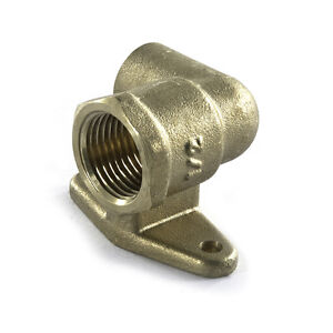 """NEW outside garden bibcock tap elbow wall plate 15mm x 1/2"""" end feed"""