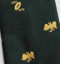 VINTAGE RUGBY COMMEMORATIVO Cravatta Verde Oro 1925-1975 1970 S by Leonard Hudson