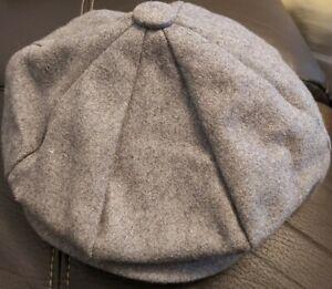 PEAKY BLINDERS TOMMY SHELBY HERRINGBONE BAKERBOY NEWSBOY FLAT CAP HAT 1920s GREY
