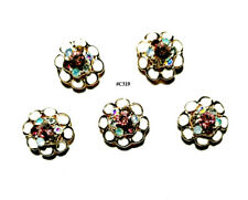 5pc Nail Art Charms 3D Nail Rhinestones Decoration Jewelry DIY Bling - C319