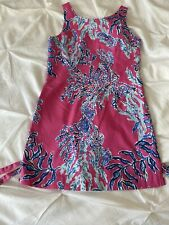 LILLY PULITZER Girl's Cathy Shift Dress in Capri Pink Size 14