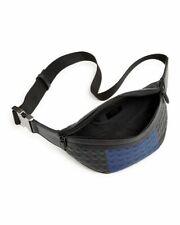 Salvatore Ferragamo Black/Blue Firenze Gamma Stripe Leather Belt Bag*****$995***