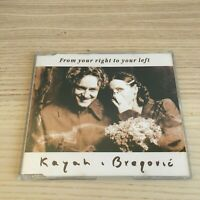Kayah i Bregovic - From Your Right to Your Left - CD Single - 1999 RCA Poland