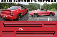 2004 1:1 MONTE CARLO DALE EARNHARDT JR EDITION E STRIPE NASCAR DECALS STICKERS