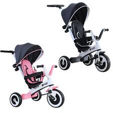 HOMCOM 4 en 1 Triciclo Bebé Plegable Bicicletas Niños +18 Mes Evolutivo