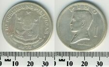 Philippines 1972 -  1 Piso Copper-Zinc-Nickel Coin - Jose Rizal - Shield of arms