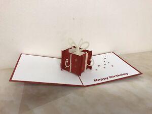 3x 3D Pop Up Birthday Greeting Card Handmade Happy Birthday ( Pack Of 3)